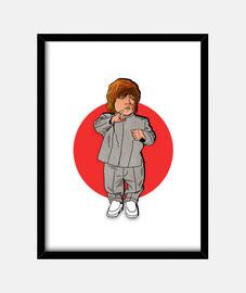 Mini me Tyrion - Cuadro con marco negro vertical 3:4 (15 x 20 cm)