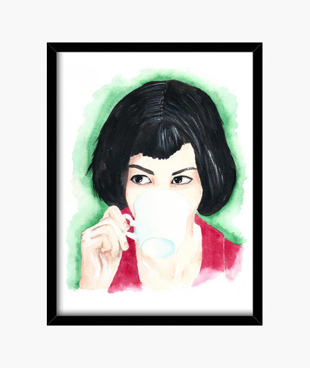 Miss poulain black box framed print