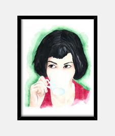 miss poulain black frame