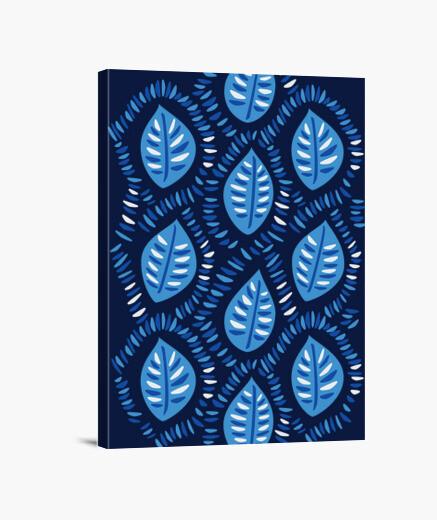 Stampa su tela modello abbastanza decorativo di foglie blu