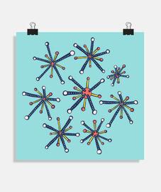 molécules de virus rétro moderne amusan