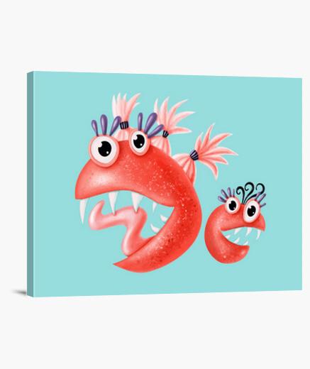 Stampa su tela mostri divertenti creature...