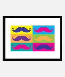 moustache popart