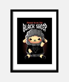 mouton noir imprimé
