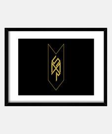 MSR logo dorado