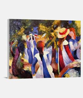 Muchachas bajo los árboles  (1914)