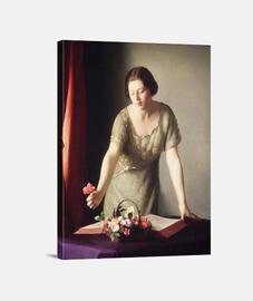 Mujer arrancando flores (1921)