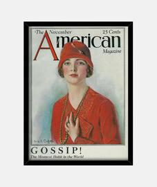 Mujer con sombrero rojo, American Magazi