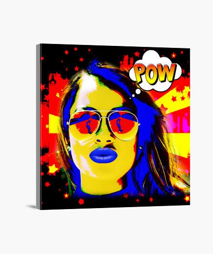 Lienzo mujer del arte pop