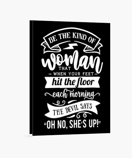 Lienzo Mujer Motivación Fuerza Fuerte...