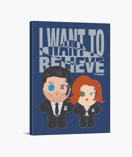 Lienzo Mulder&Scully