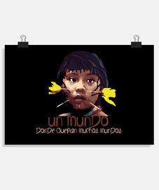 Mundo Indigena Fondo oscuro Póster horizontal 3:2 - (30 x 20 cm)