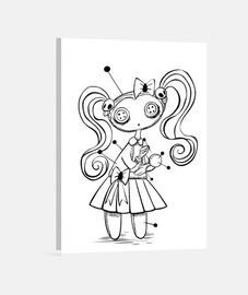 Muñeca vudú - Lienzo