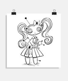 Muñeca vudú - Póster cuadrado