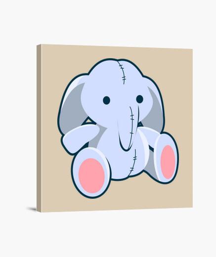 Lienzo Muñeco elefante