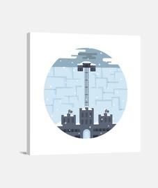 mur paysage - illustration game of thrones