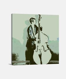 músico bajo vintage