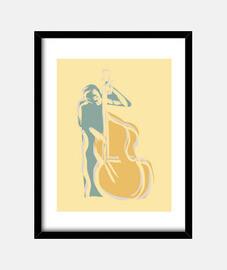 músico de bajista