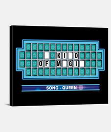 musique - tv - roulette panneau mystérieux - reine