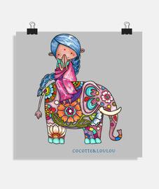 Nalini la petite Hindoue et Bali l'élép