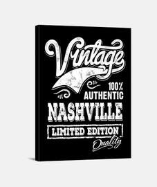 nashville tennessee musique country rétro rockabilly vintage USA impression sur toile