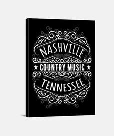 nashville tennessee retro musique country retro USA rockabilly impression sur toile