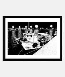 navire de pêche dans le port