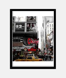 New York times square cuadro color