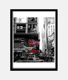 New York times square lienzo blanco y negro
