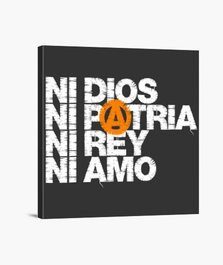 Lienzo Ni Dios Patria Rey Amo