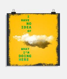 ni idea /// cartel / amarillo