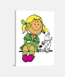 niña-veterinaria
