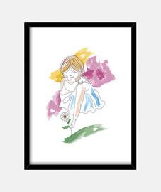 Niña con la flor