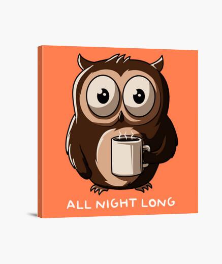 Stampa su tela notte owl