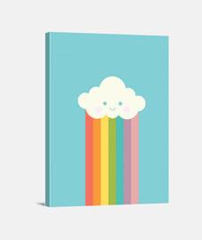 Nube arco iris orgulloso