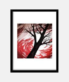 nuvole rosso scuro e rosso