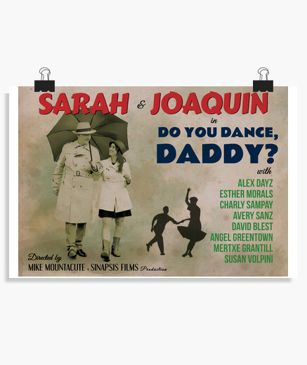 Old dance poster, dad