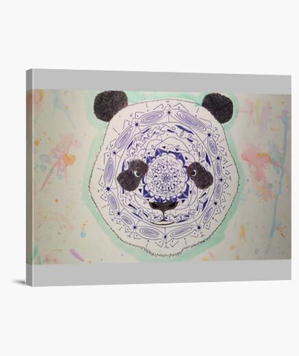 Lienzo Oso panda