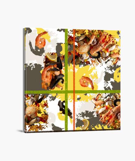 Tableau paella and.es_053a_2019_paella impression sur toile