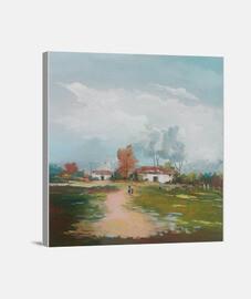 Paisaje campecino 1:1 - (40 x 40 cm)
