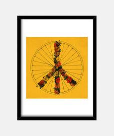paix and vélo - jaune