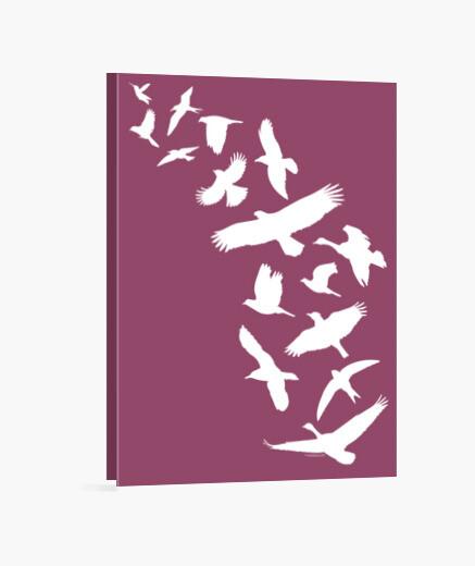 Lienzo Pájaros volando - blanco