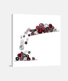 palle. tela cuadrato 1: 1 - (40 x 40 cm)