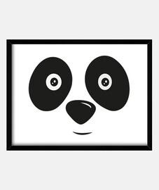panda bear happy face