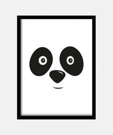 panda bear visage heureux