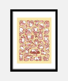 panda rojo impresiones de propagación