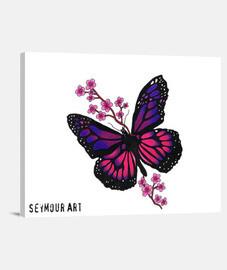 papillon à la fleur