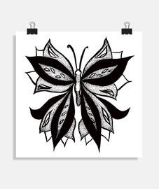 papillon abstrait en dessin à l39encre