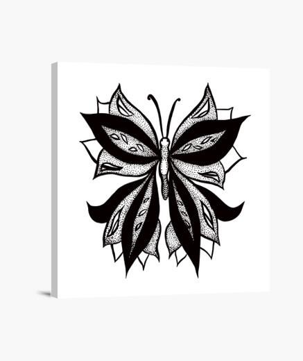 Tableau papillon abstrait en dessin à l39encre