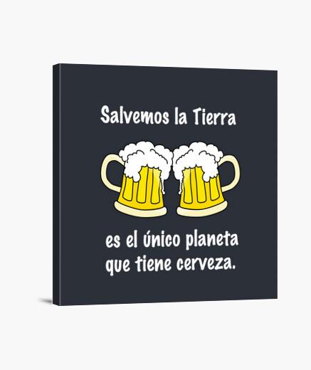 Lienzo para cervecer@s (letras blancas)